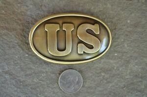 New Union Replica Waist Belt Buckle Plate Civil War Soldier Collectible