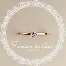 18k Gold Silver Thin Eternity CZ little stone Ring Sterling Silver Women's Ring