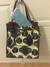 Original Marni at H&M große Tasche Shopper Bast / Leder neu
