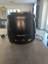 More details for large black buffalo electric soup steam kettle warmer 10 litre l715 catering