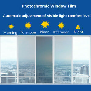 75%-45%VLT Photochromic Window Film Car Auto Home Smart Window solar Tint Film