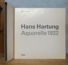 PEINTURE ART ABSTRAIT HANS HARTUNG AQUARELLE 1922 (WILL GROHMANN, 1966, 33 PL.).