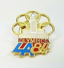 1984 Los Angeles La California Usa Olympics Lapel Hat Pin Vintage Collectible