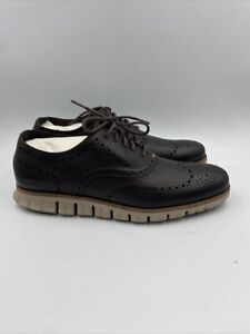 Cole Haan Mens Zerogrand Oxford Java Closed/Cobblestone Size 11 M , 351