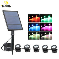 T-SUN 5 Light RGB Solar Lights Outdoors Waterproof Solar Lawn Light Submersible