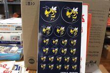 "GEORGIA TECH ""YELLOW JACKETS""  STICKER SHEET  23 stickers, new old stock, dusty"