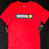 New Nike Sportswear Swoosh Logo Tee T-Shirt Red White Black AR5027-657 Men's M
