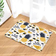 Pineapple Flannel Door Mat Bathroom Carpet Rug Non Slip Door Floor Mat Rugs
