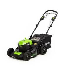 "GreenWorks Commercial 48SPM21 48V 21"" Dual Volt Self-Propelled Lawn Mower"