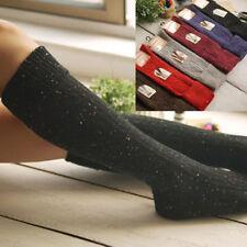 5 Pairs Women Boot Socks 95% Wool Cashmere Knee-High Thick Winter Warm Soft