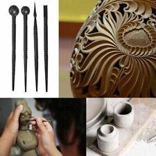 4pcs ceramic Polymer Clay Tools Carving Craft Brush Ceramics Tool Multi-funcUTNA
