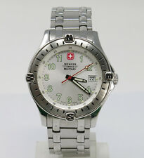 Orologio wenger swiss military all stainless steel watch swiss made clock reloj