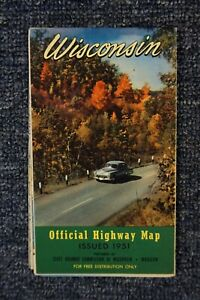 1951 Wisconsin Official State Highway Map - Very Good Condition
