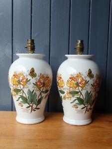 Pair of Portmeirion Honeysuckle Table Lamps