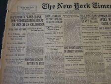 1930 JAN 20 NEW YORK TIMES - 16 DIE IN PLANE CRASH AT CALIFORNIA BEACH - NT 5662