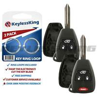 2 Replacement Remote Key Fob Shell Pad Case 4b for 2005-2013 Jeep Liberty
