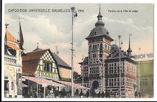 Belgium - Brussels Bruxelles Exhibition 1910 PPC Unposted, Liege Pavilion