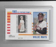 2014 Topps Heritage - WILLIE MAYS - Framed US Postage Stamp - GIANTS #d 39/50