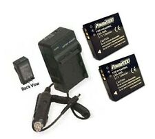 TWO IA-BH125C/WWD Batteries + Charger for Samsung HMX-R10BP HMX-R10SN HMX-R10SP