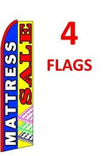 4 (four) MATTRESS SALE bl/yel 11.5' SWOOPER #1 FEATHER FLAGS BANNERS