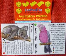 ZOOBOOKOO ORIGINAL CUBE BOOK OF AUSTRALIAN WILDLIFE. KANGAROOS TO KOOKABURRAS