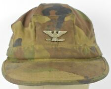 Green Camouflage Eagle USA Lapel Pin Military Style Cadet Hat Cap fitted