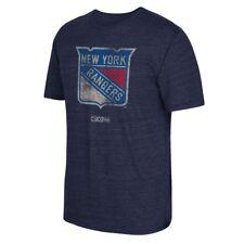 New York Rangers CCM BIgger Better Logo Vintage Tri-Blend T-Shirt Men's