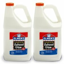 2-Elmer's Liquid School Glue, White, Washable,Gallon,PERFECT FOR MACKING SLIME