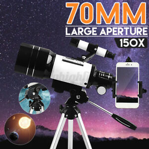 Beginner 150X Astronomical Telescope Refractor + Tripod Night Vision Space USA