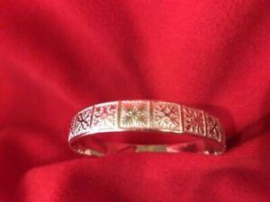Sterling Silver Hawaiian Quilt Bangle Bracelet, 22.34g.