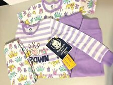 Gerber Toddler Girls 4 Piece Cotton Pajama Set, crown, 3T 100% Cotton