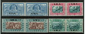 South West Afrika Sc#B5-B8, 1938 Voortrekkers #4767