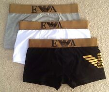 EMPORIO ARMANI Men's Underwear Boxer Brief - Three Pack - Gold Class