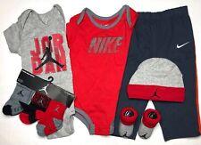 NIKE/JORDAN BABY BOYS 8pc Gift Set: Bodysuits, Pants, Cap, Socks & Booties 9-12M
