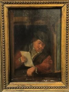 🔥 Antique Impressive 17th c. Dutch Old Master Oil Painting Portrait