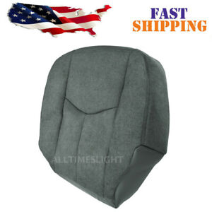For GMC Sierra 1500 2500 HD 2003-06 Driver Side Bottom Cloth Seat Cover Dark AT