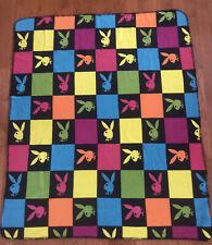 "Playboy Bunny Multicolor Fleece Blanket Throw 48"" X 60"""