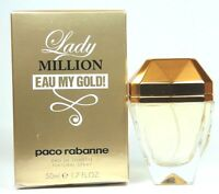 Lady Million Eau My Gold! By Paco Rabanne 2.7oz. Edt Spray For Women New In Box