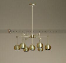 Mid century modern brass chandelier light - 7 light fixture chandelier