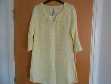 Ladies Lemon Colour Malvin Linen Tunic, BNWT Size 10. RRP £113!