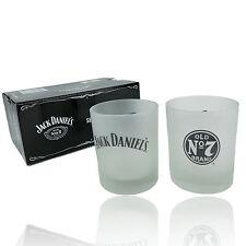 Genuine JACK DANIELS Frosted Ice SPIRIT GLASS SET - Man Cave Bar Kitchen BBQ