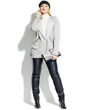 NWT Lucky Brand Jeans BLACK WHITE Tweed Zip Front Jacket Coat M SOLD OUT $129