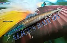 "NEW LONG JERK ""ALICE'S BAIT"" MINNOW 175 SLIM FLOATING - COLOR: MULLET"