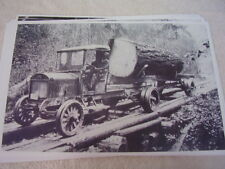 EARLY 1920'S GMC TRUCK  LOG HAULER  BIG !  11 X 17  PHOTO /  PICTURE