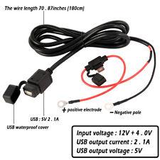 Motorrad 2.1A 12V-24V USB Ladegerät Steckdose Buchse Power Adapter Wasserdicht