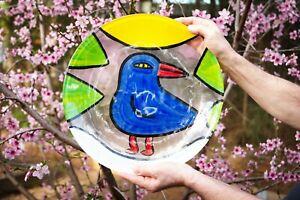 Kosta Boda, Huge Ulrica Hydman Vallien Bird Plate