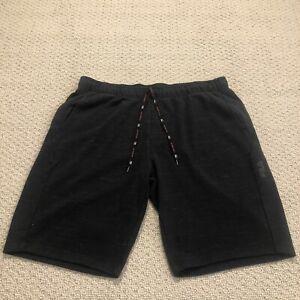 Men's FILA Drawstring Activewear Sport Sweat Shorts Charcoal Black Sz Large