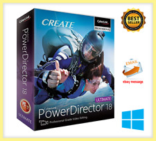 CyberLink PowerDirector Ultimate 18✔️Lifetime activation✔️with unlimited devices
