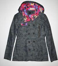 New Hurley Womens Winchester Rain Slicker Casual Light Weight Street Jacket