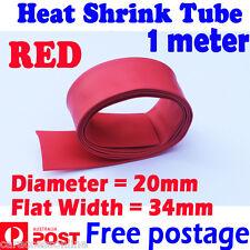 Heat Shrink tube Heatshrink tubing Sleeving RED Dia=20mm 1meter  AU STOCK